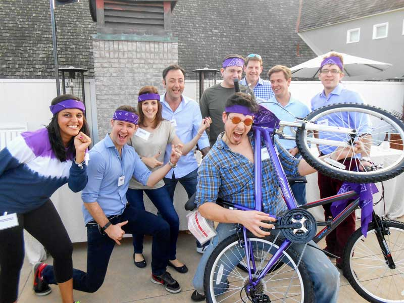 GET IN THE GAME TO BECOMING THE WINNING TEAM for the CHARITY BIKE BUILD community service teambuilding group challenge | Out of the Ordinary Group Adventures