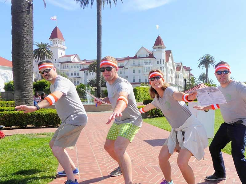 Urban Challenge Scavenger Hunts in Coronado near the Hotel Del | Out of the Ordinary Group Adventures