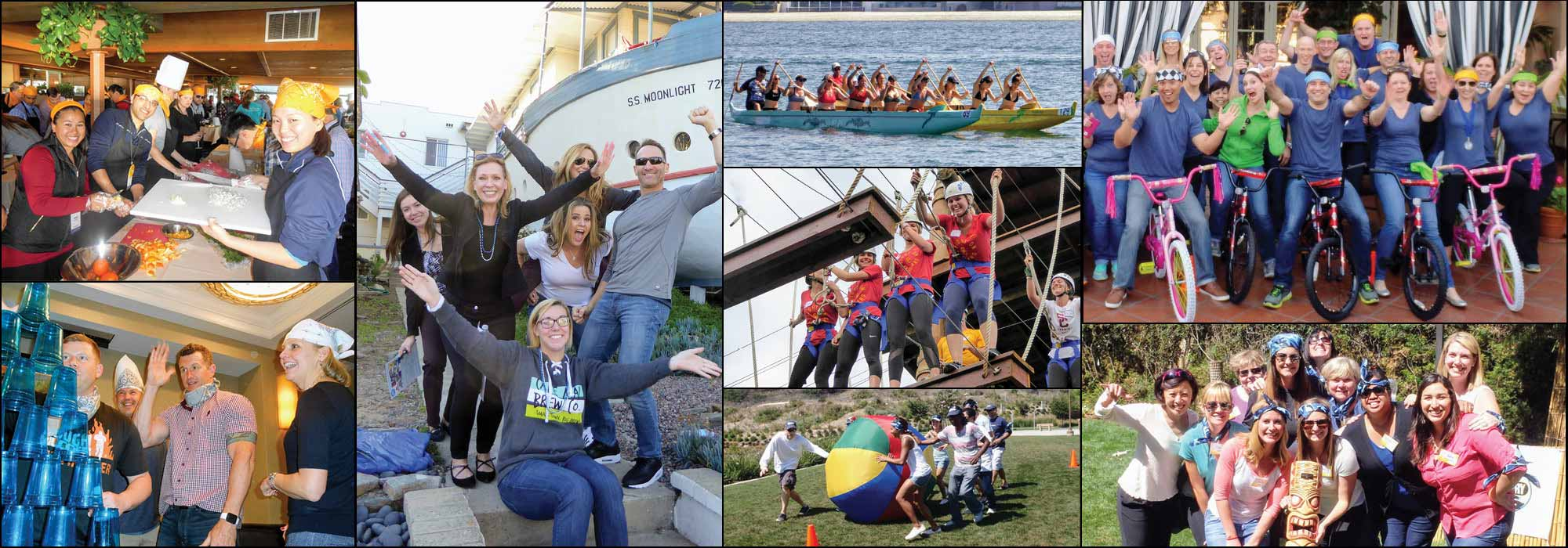 Site Collage of exciting Team-building and Adventure Tour Programs | Out of the Ordinary Group and Team Adventures
